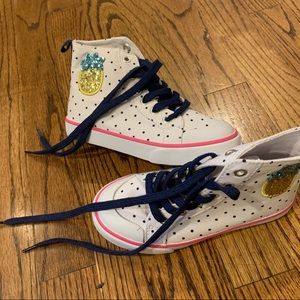 New GYMBOREE Sparkle Pineapple Hi Top Sneakers 11